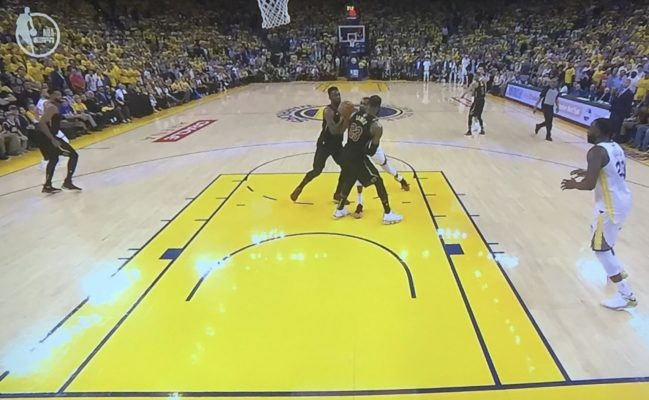 lebron restricted area